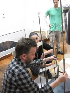 Stephen Brookbanks, Desna and Chad installing mounts in Ūkaipō