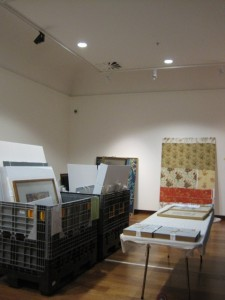 Artworks ready to hang in Architecture of the heart